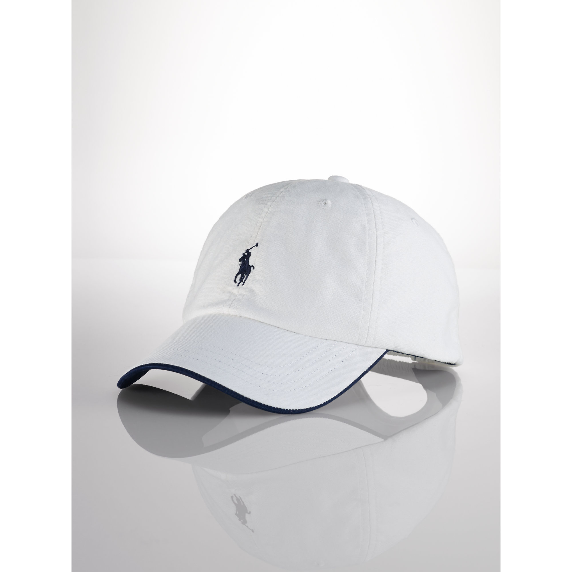 Lyst - Polo Ralph Lauren Cotton Oxford Baseball Cap in White for Men 6eba40f4ab3