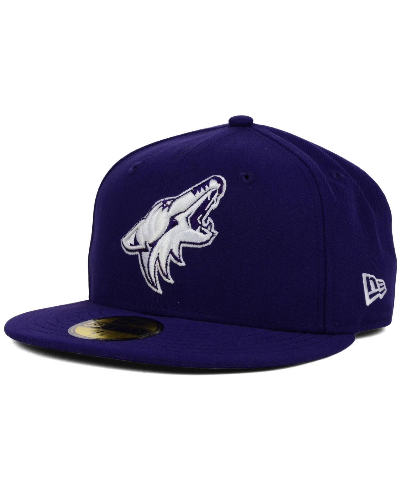 more photos 1c4d2 d1dcc KTZ Arizona Coyotes C-dub 59fifty Cap in Purple for Men - Lyst