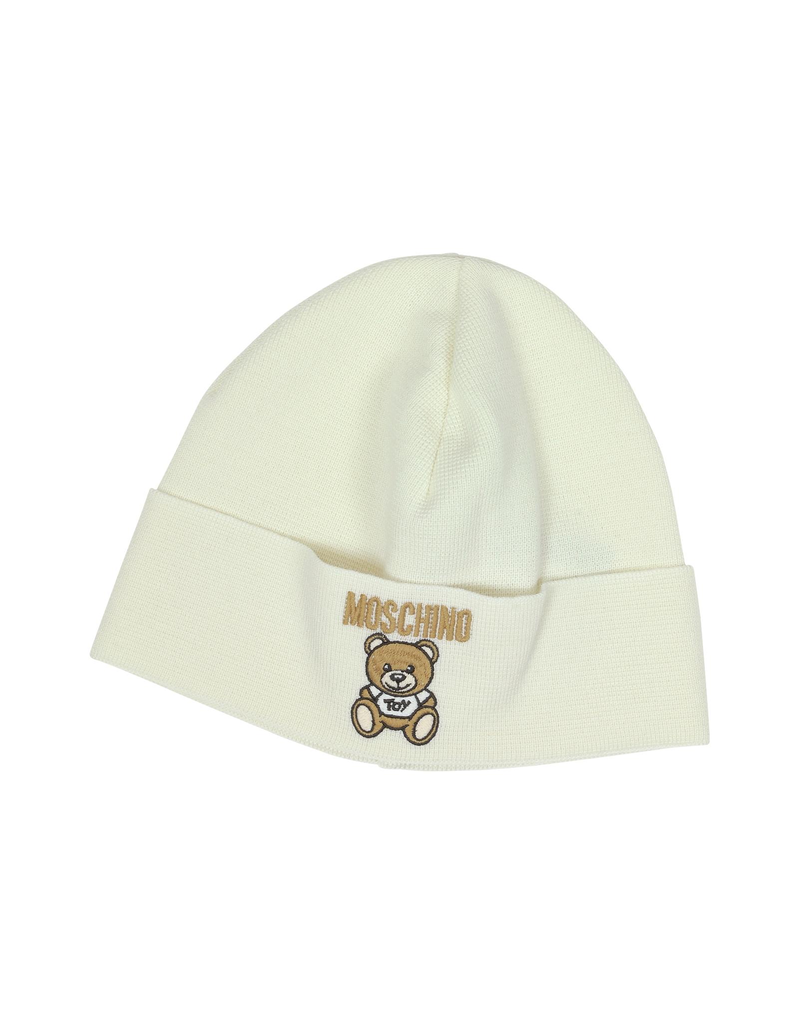 a949d1db362ff Moschino Teddy Bear Wool Blend Hat in White - Lyst
