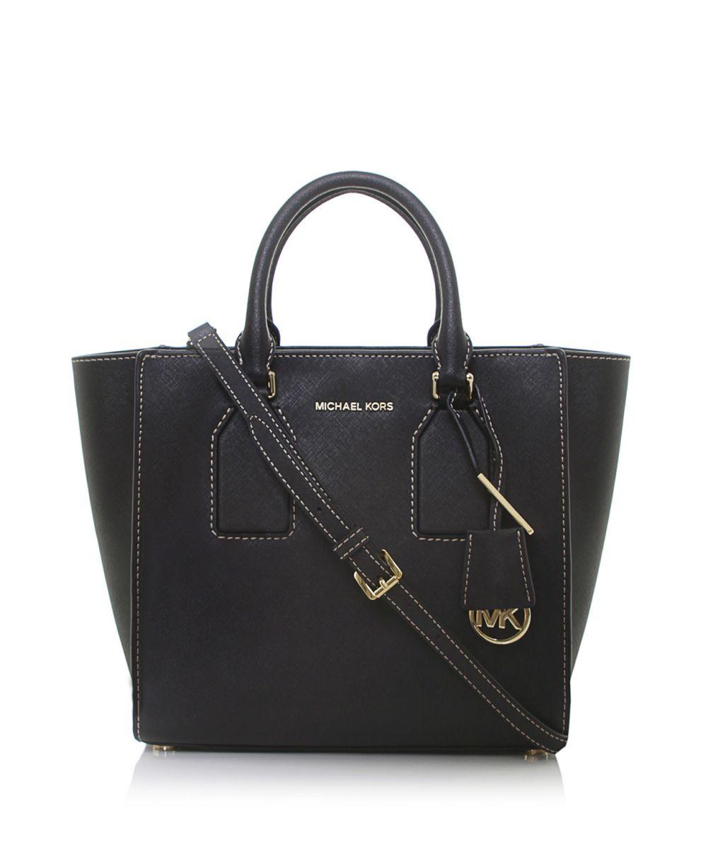 2327bf316984 ... cheap lyst michael michael kors selby medium satchel bag in black 04010  24641