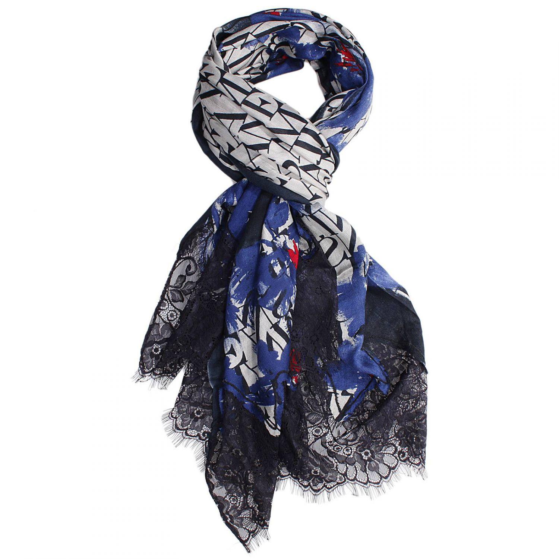 armani scarf in blue lyst