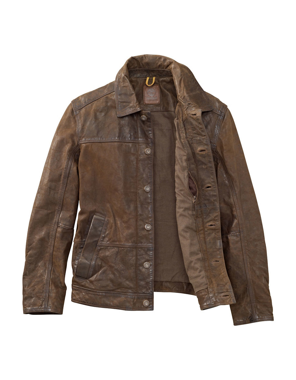 Timberland Tenon Water Resistant Leather Bomber Jacket in ...