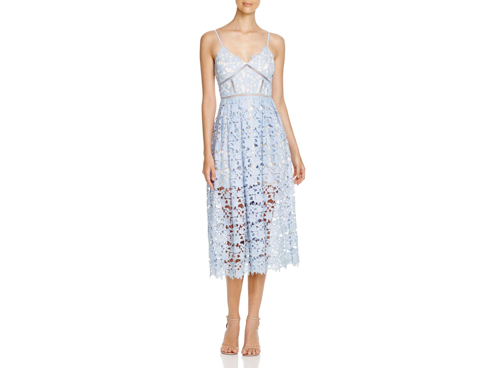 Blue aqua lace dress 2019