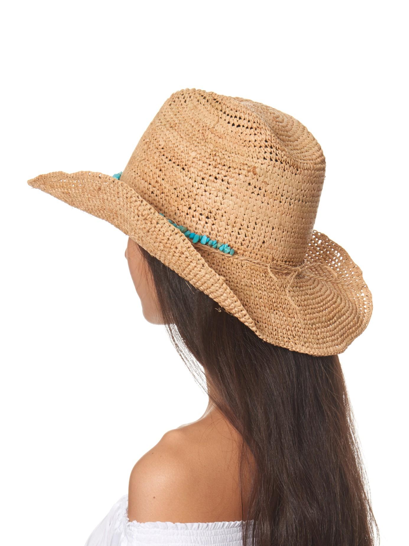 Melissa Odabash Elle Straw Hat in Natural - Lyst 0715a1ebd83