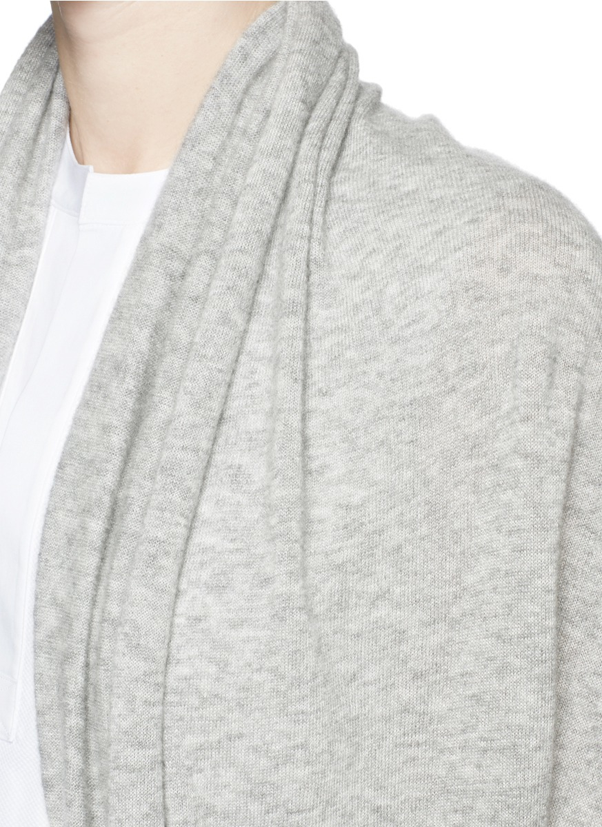 The row 'Caro' Cashmere-Silk Drape Cardigan in Gray | Lyst