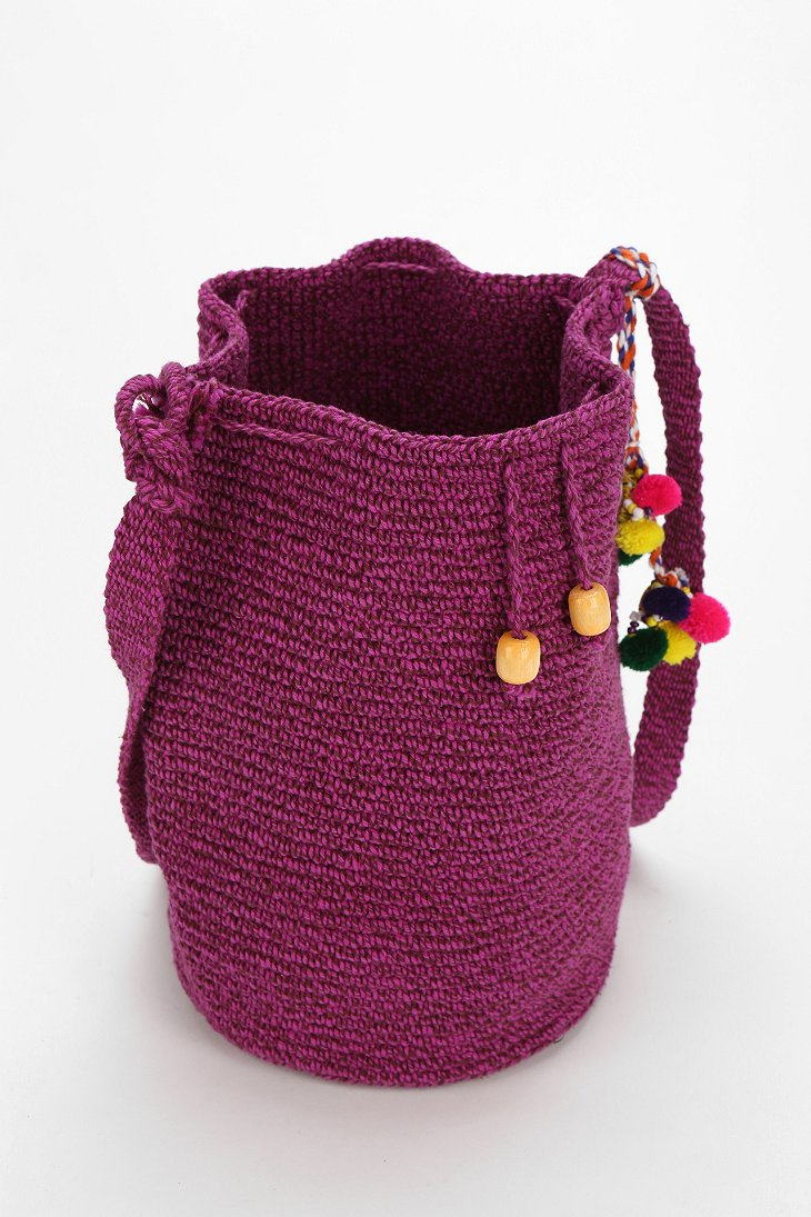 Crochet pattern for a bucket bag manet for stela 9 crochet beach bucket bag in purple lyst bankloansurffo Choice Image