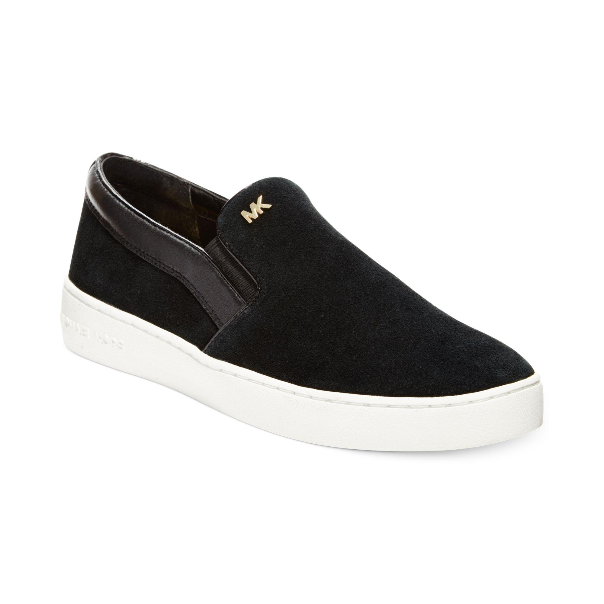 Michael Kors Michael Keaton Slip On Sneakers In Black