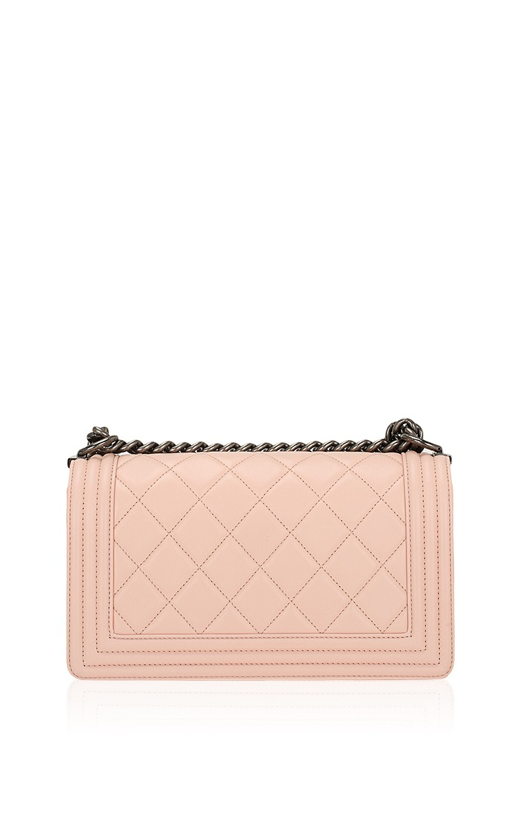 de684406122d Lyst - Madison Avenue Couture Chanel Nude Pink Quilted Calfskin ...