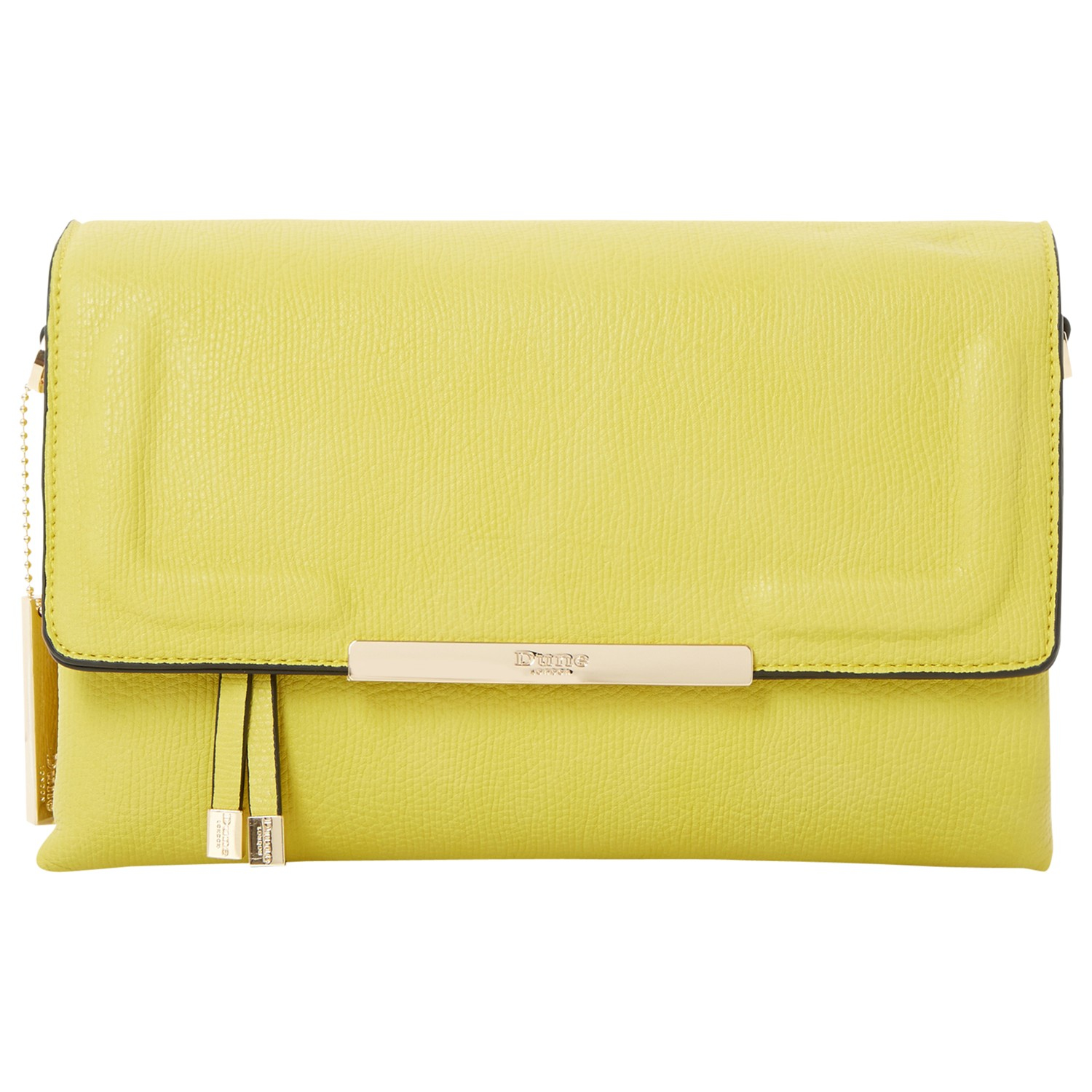 e4826807ff6 Dune Emory Flapover Clutch Bag in Yellow - Lyst