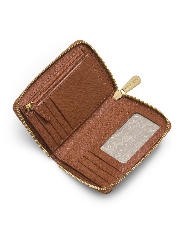 76a4ca50dc1aa8 MICHAEL Michael Kors Medium Jet Set Travel Zip-around Wallet in ...