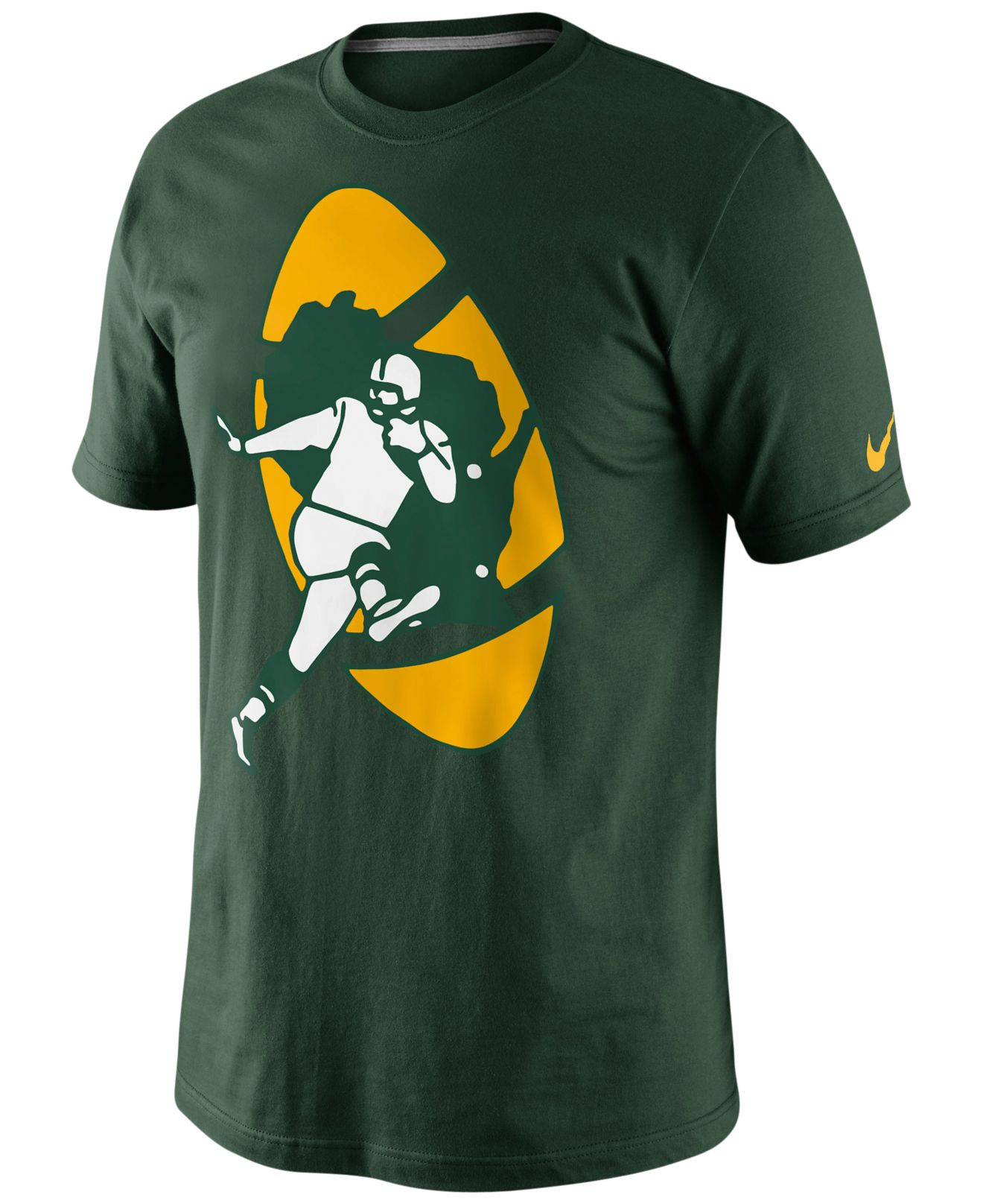 Lyst Nike Men 39 S Green Bay Packers Retro Oversized Logo T