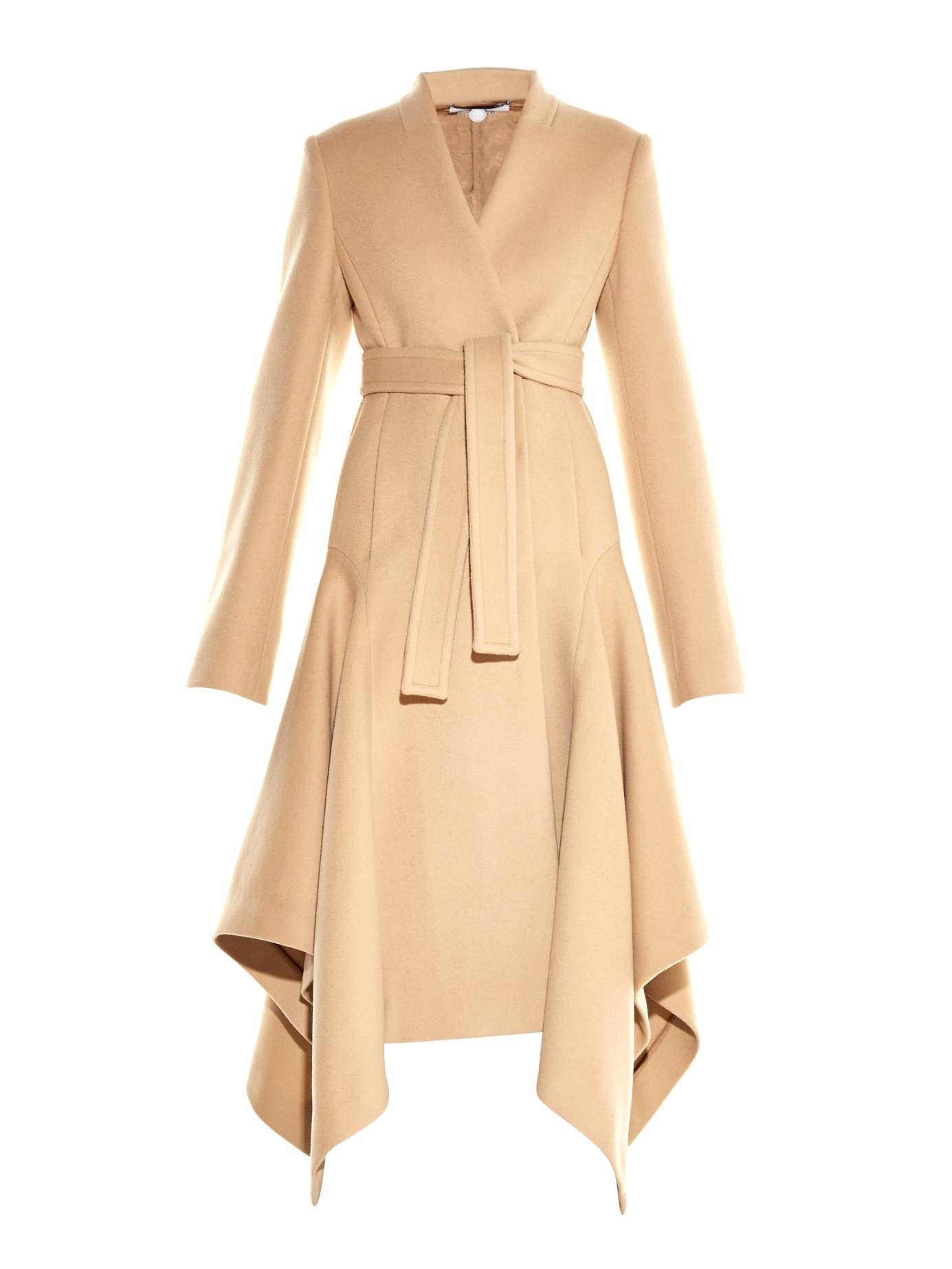 Stella Mccartney Claudine Wool Blend Coat In Natural Lyst
