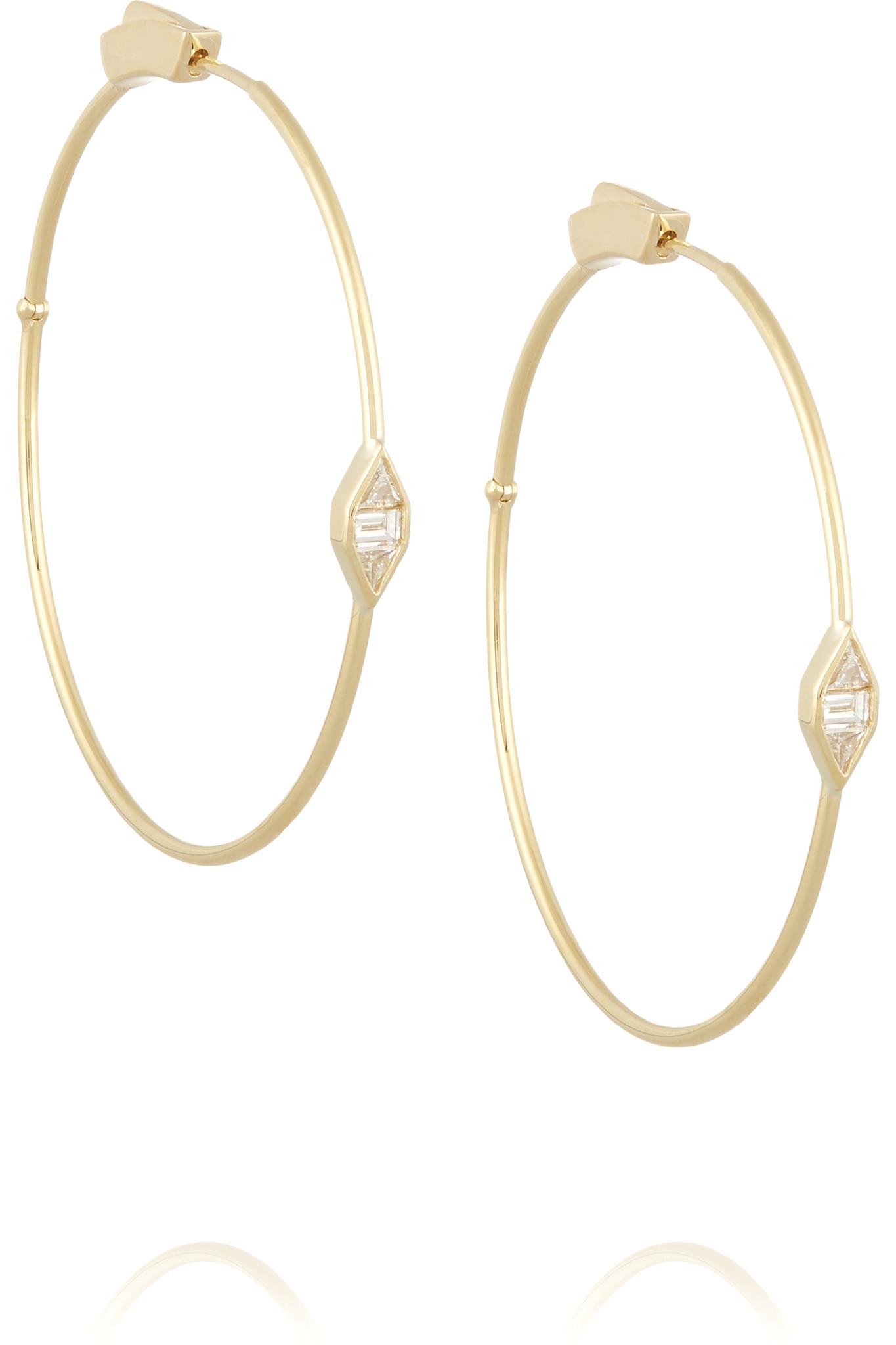 Jennifer Meyer 18-karat Gold Diamond Hoop Earrings BLDoiZNg