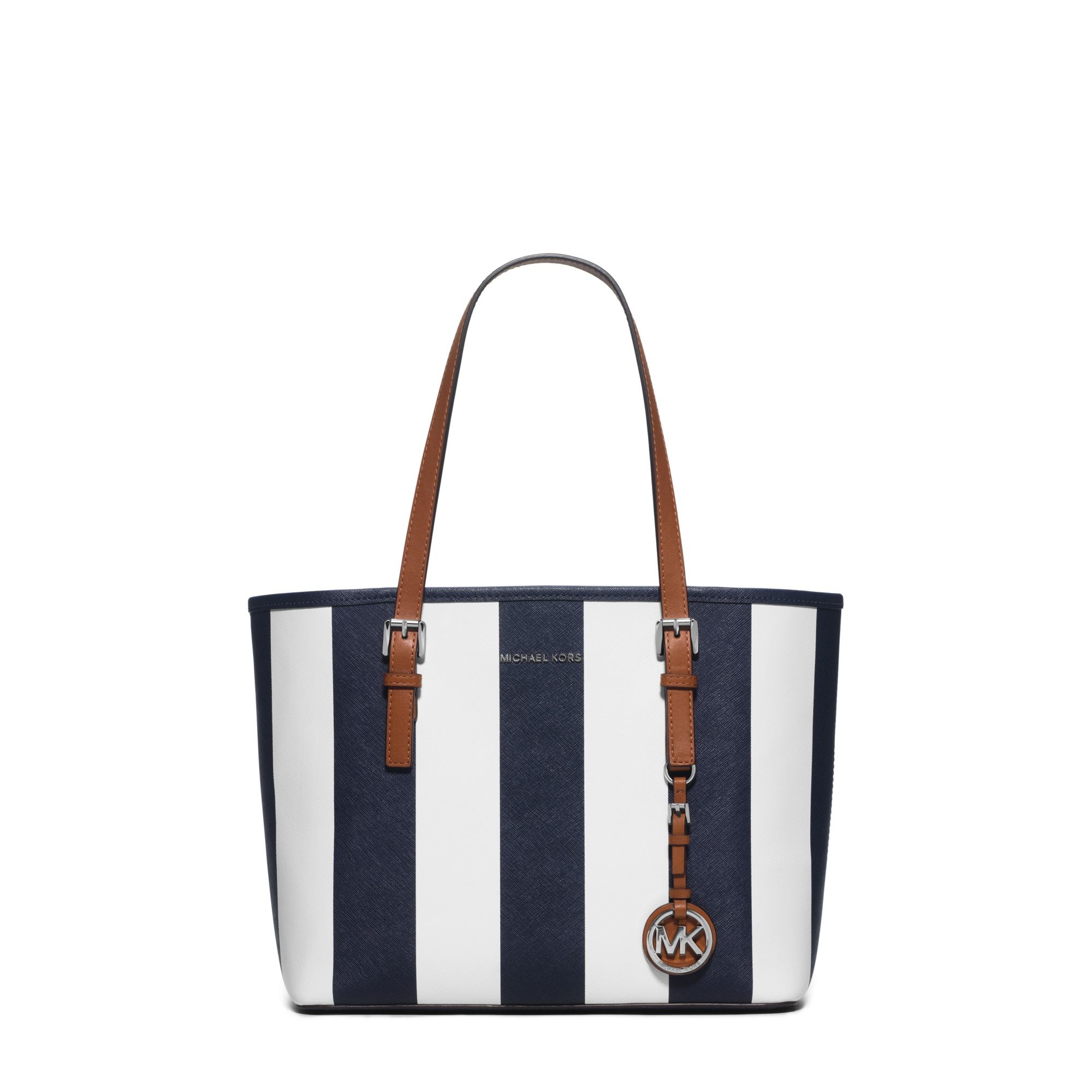 d899f91b5 Navy Blue And White Striped Michael Kors Purse - Best Image Home In ...