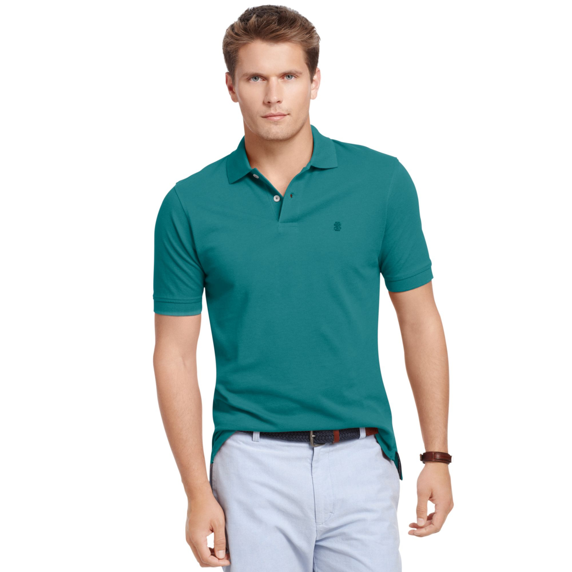 Izod big and tall short sleeve solid pique polo shirt in for Izod big and tall shirts