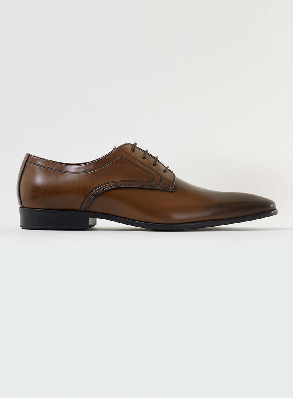 topman brown leather derby shoes in brown for lyst