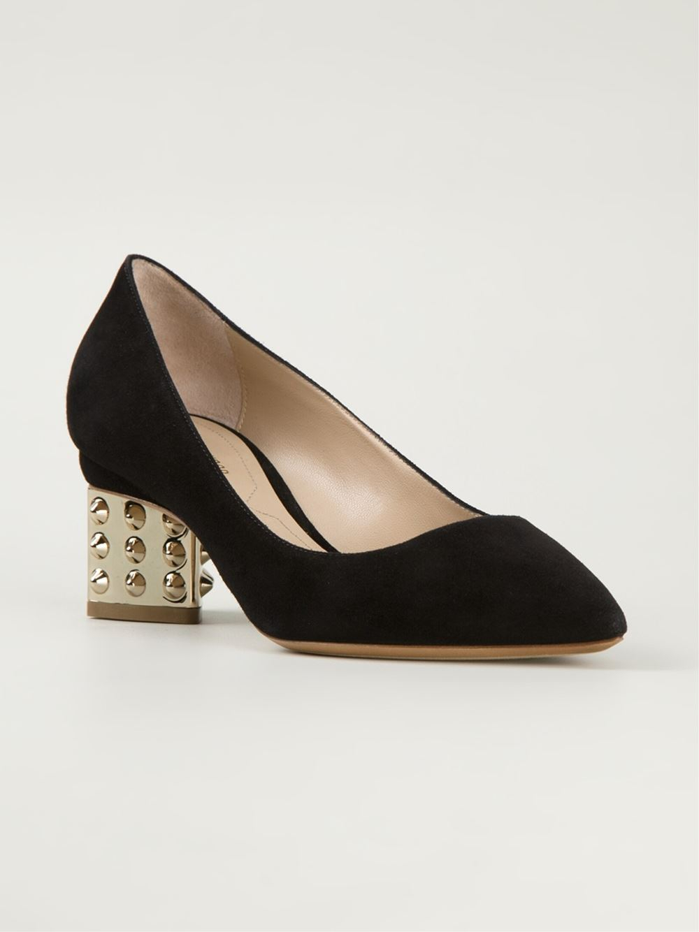 941bacfe30f Nicholas Kirkwood Prism Leather and Suede Pumps in Black - Lyst