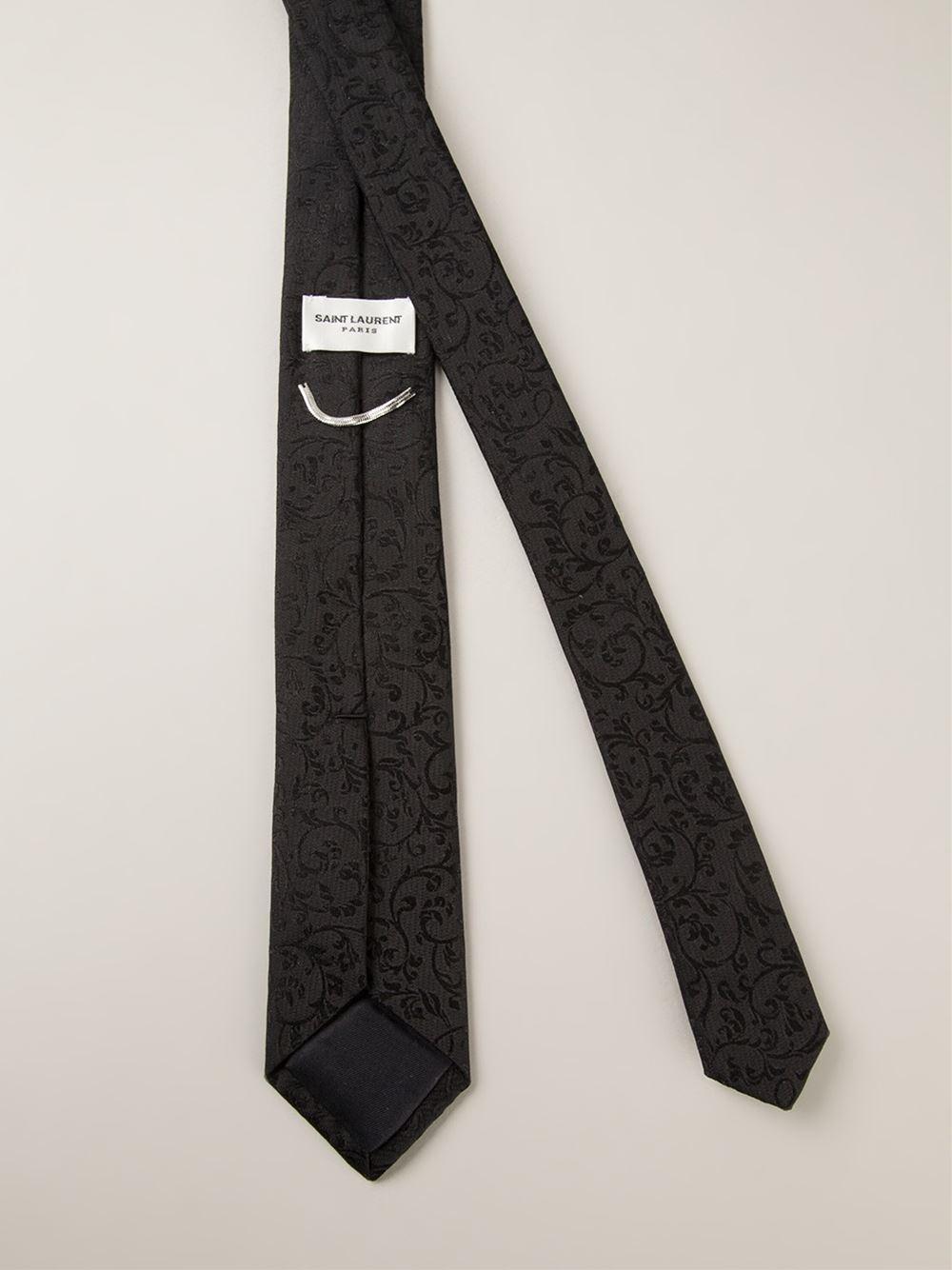 b06955a35a49f Lyst - Saint Laurent Baroque Jacquard Tie in Black for Men