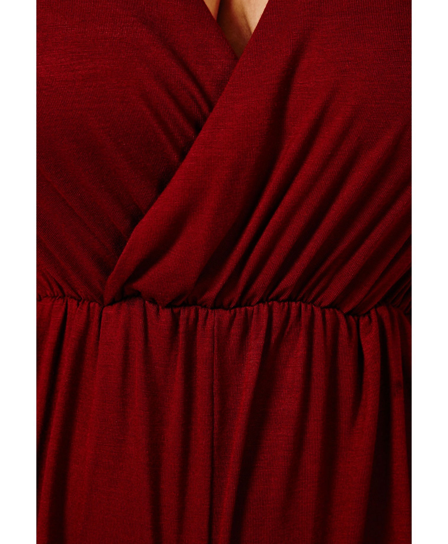 90f1a355f89 Lyst - Missguided Migle Plunge Neck Playsuit in Burgundy in Red