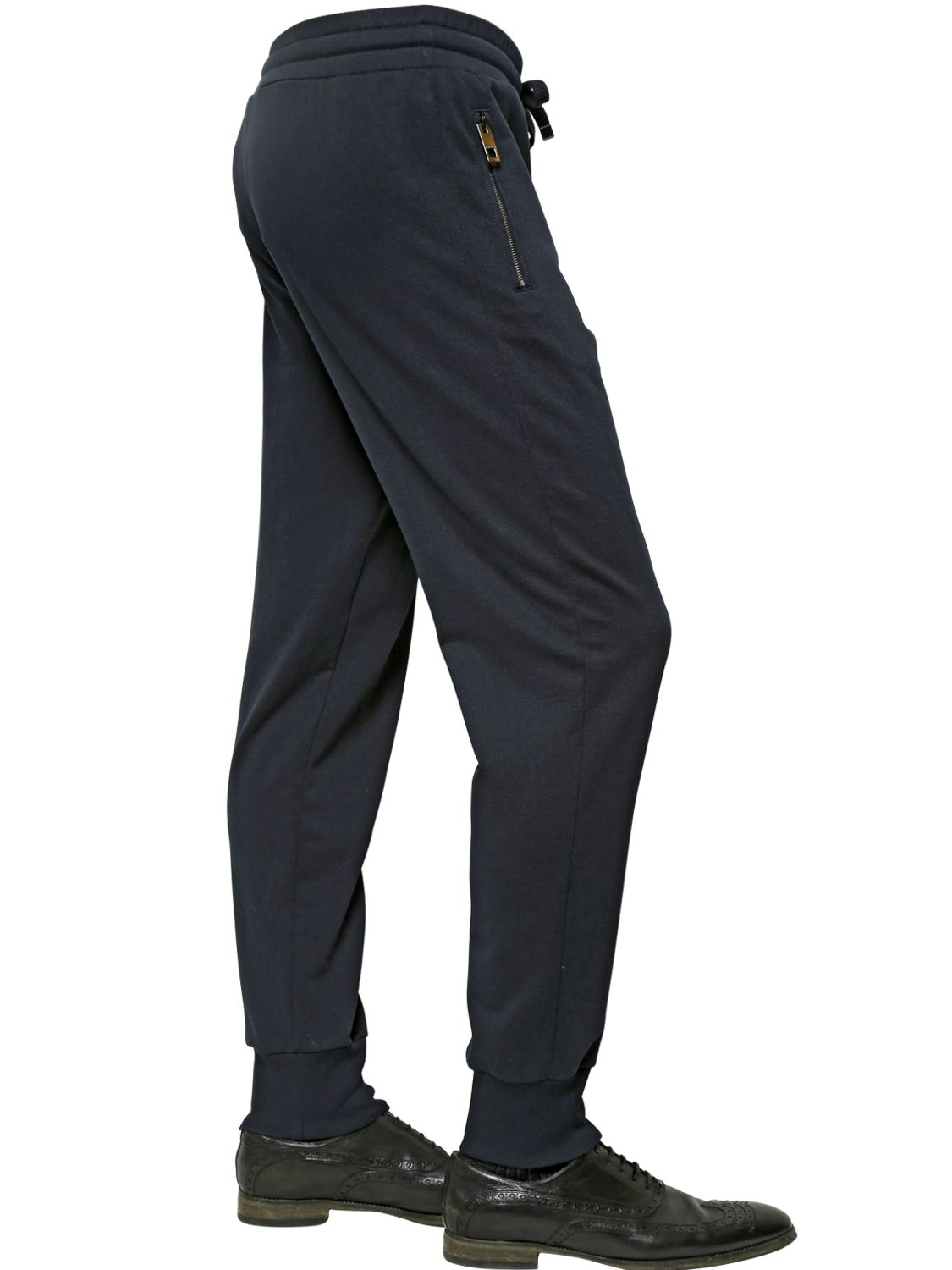 0823c536f9d Lyst - Dolce   Gabbana Logo Plaque Cotton Jogging Trousers in Blue ...