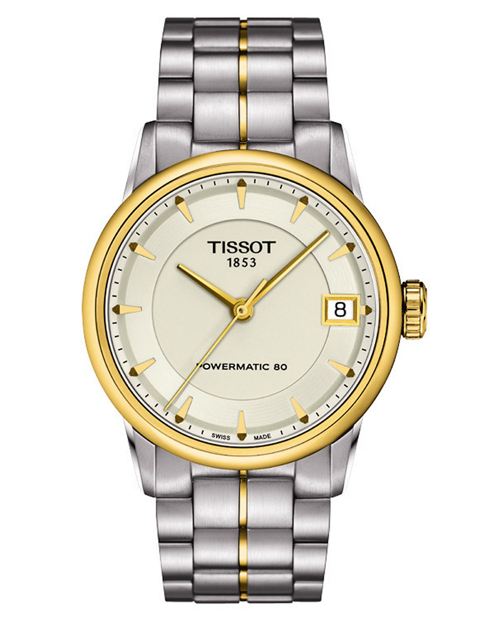tissot luxury two tone in metallic lyst