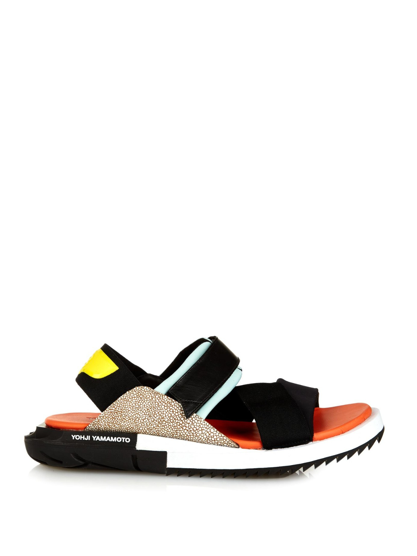 a8f35455d Y-3 Kaohe Neoprene And Leather Sandals for Men - Lyst