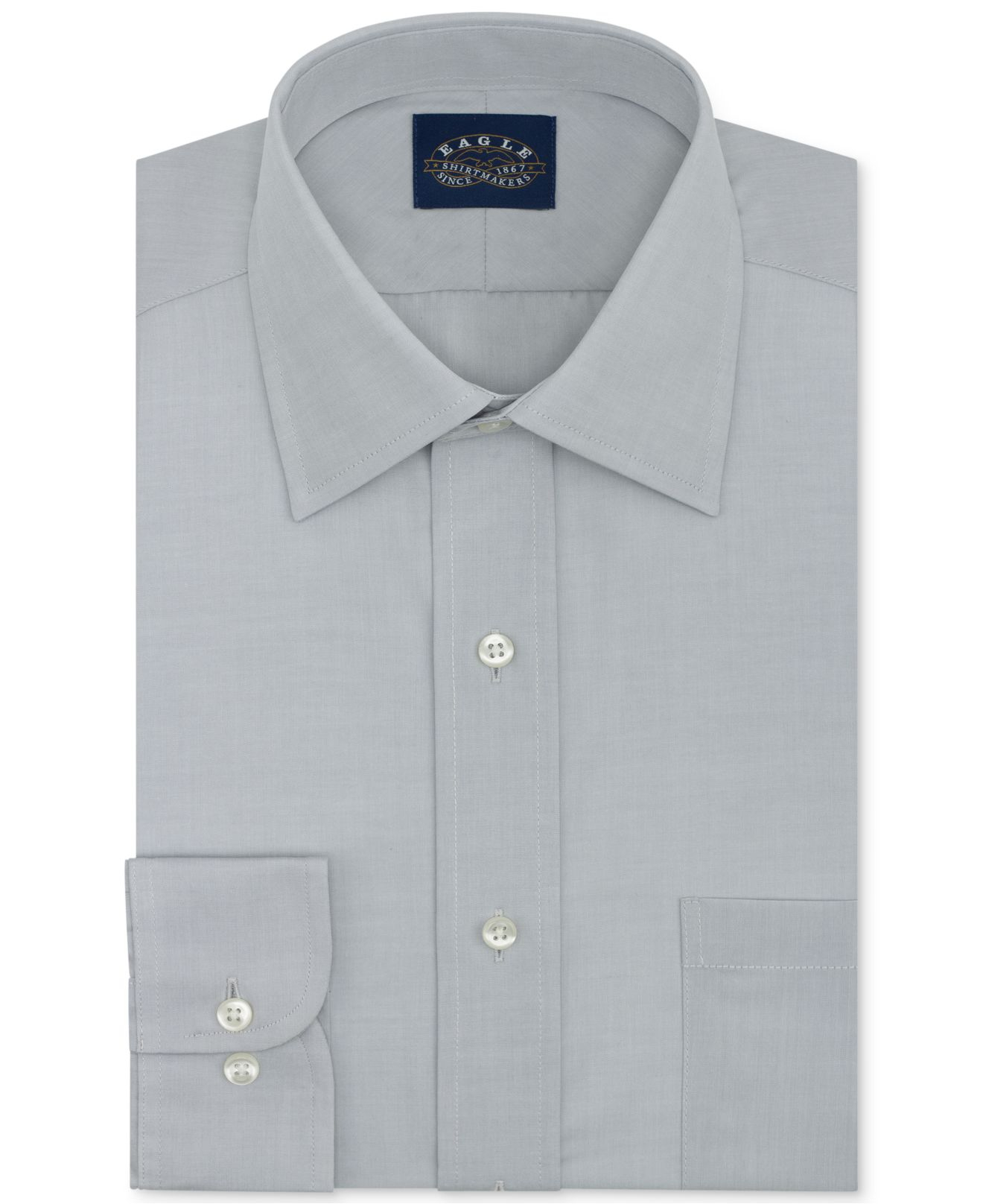 Lyst eagle non iron slim fit solid dress shirt in for Slim fit non iron dress shirts