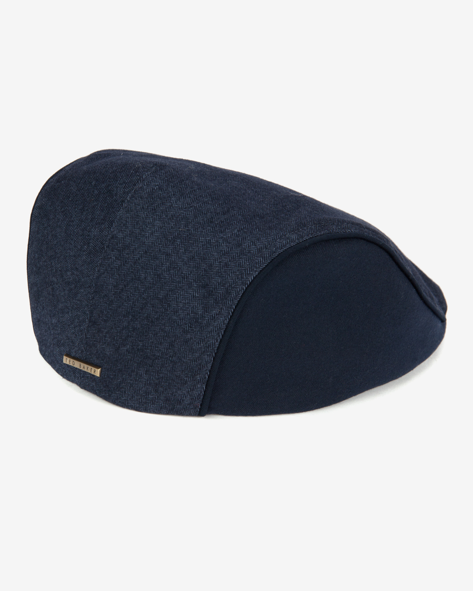 f4cdde1723d49 Ted Baker Herringbone Flat Cap in Blue for Men - Lyst