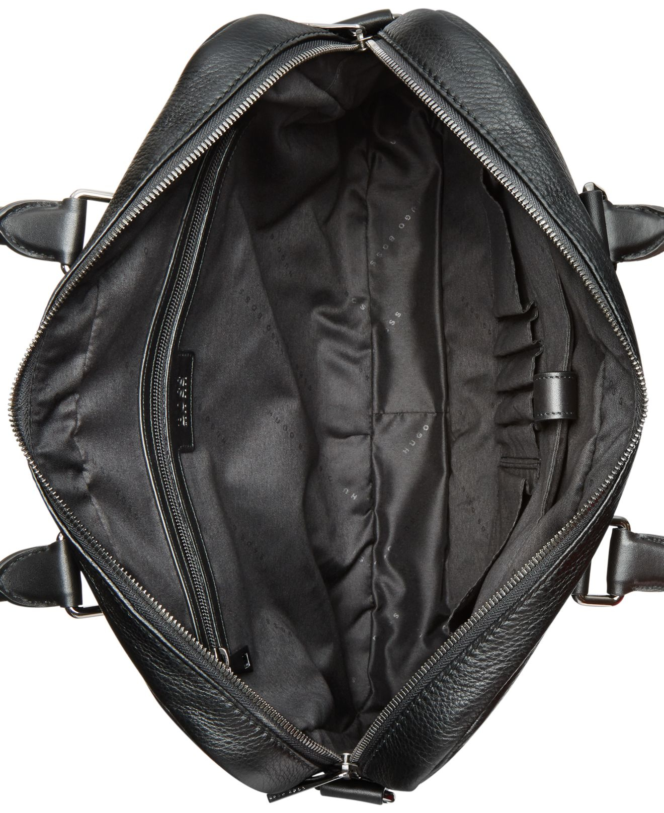 c802a3cc9 BOSS Morval Leather Work Bag in Black for Men - Lyst