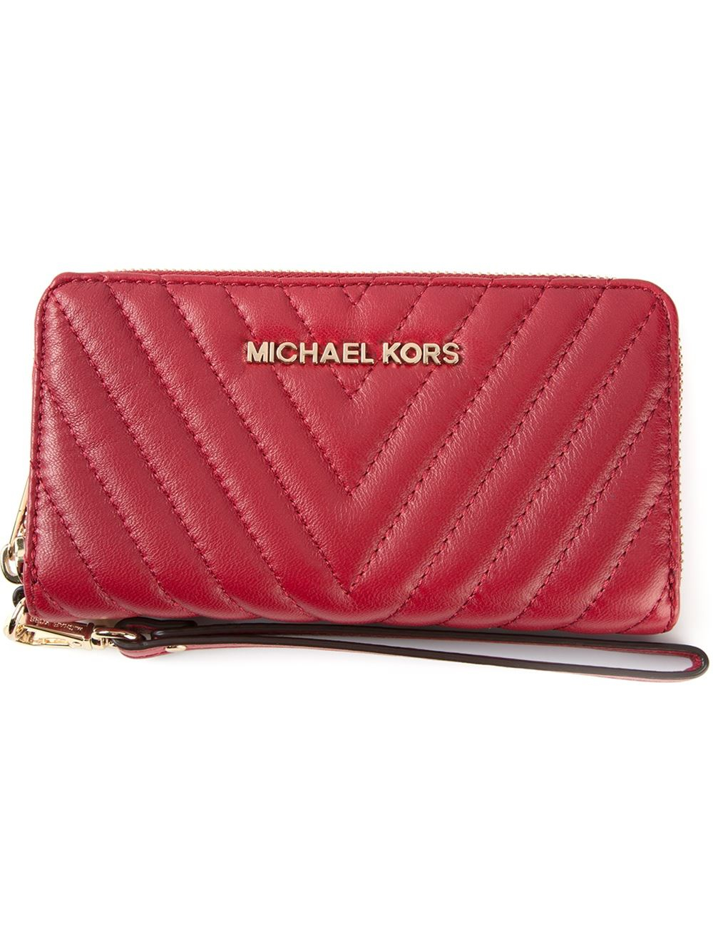 Michael Michael Kors Jet Set Travel Quilted Wallet In
