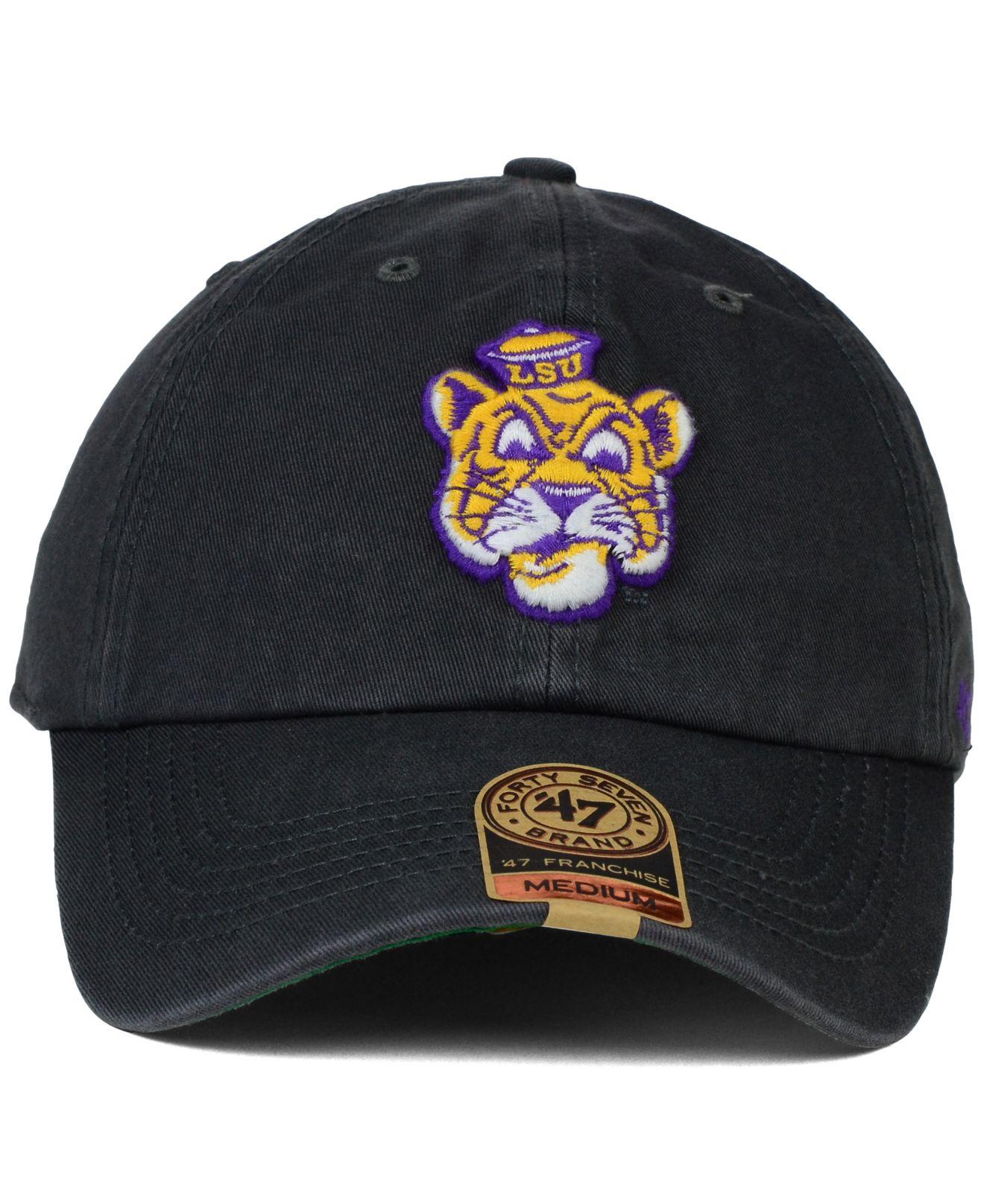 de54322f2d9a2 ... hat purple 328b6 f9812  sale lyst 47 brand lsu tigers vault franchise  cap in gray for men 9f83d 73df7