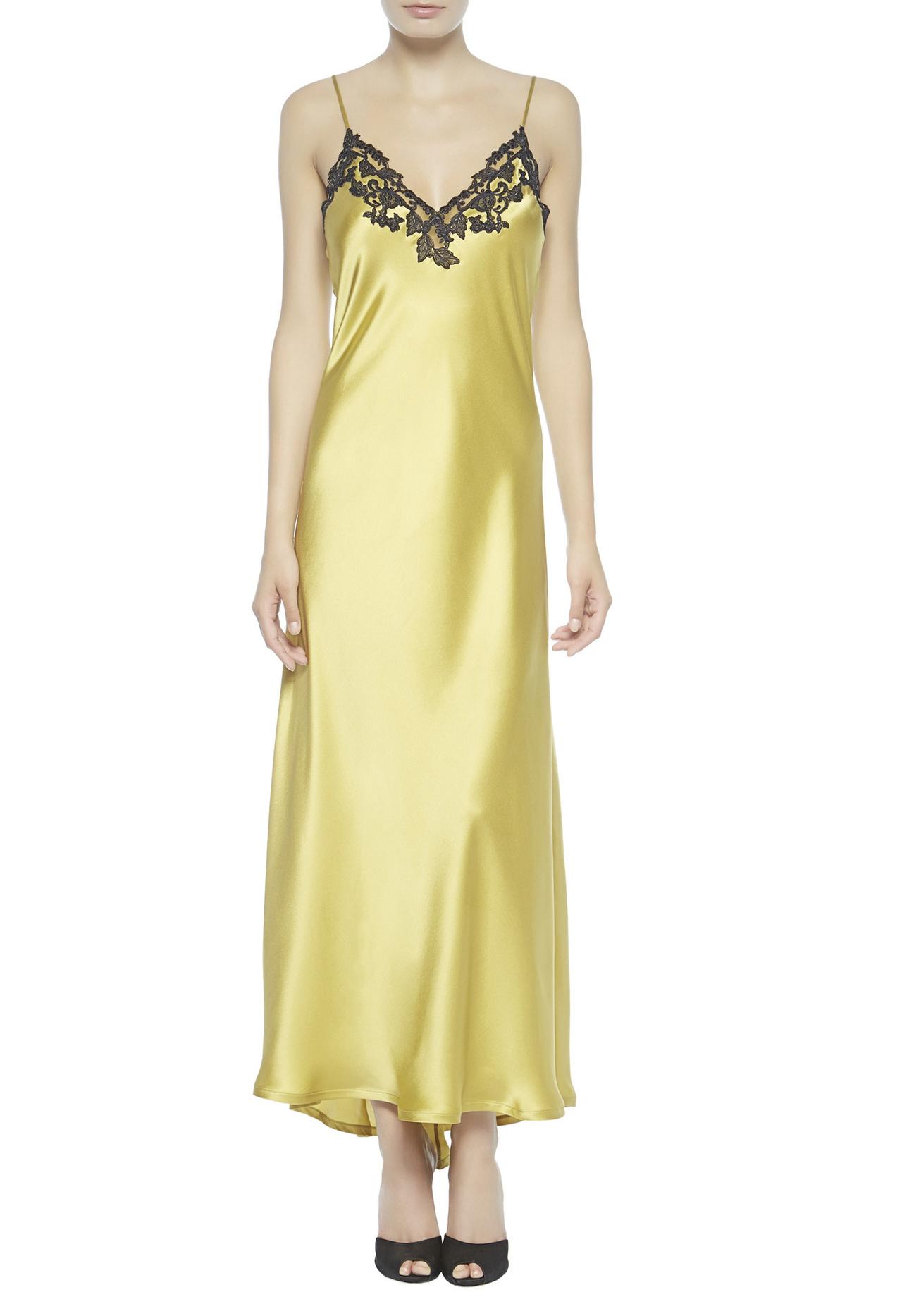 La Perla 2014 Fall Winter Lingerie Campaign Photos: La Perla Maison Nightgown In Yellow