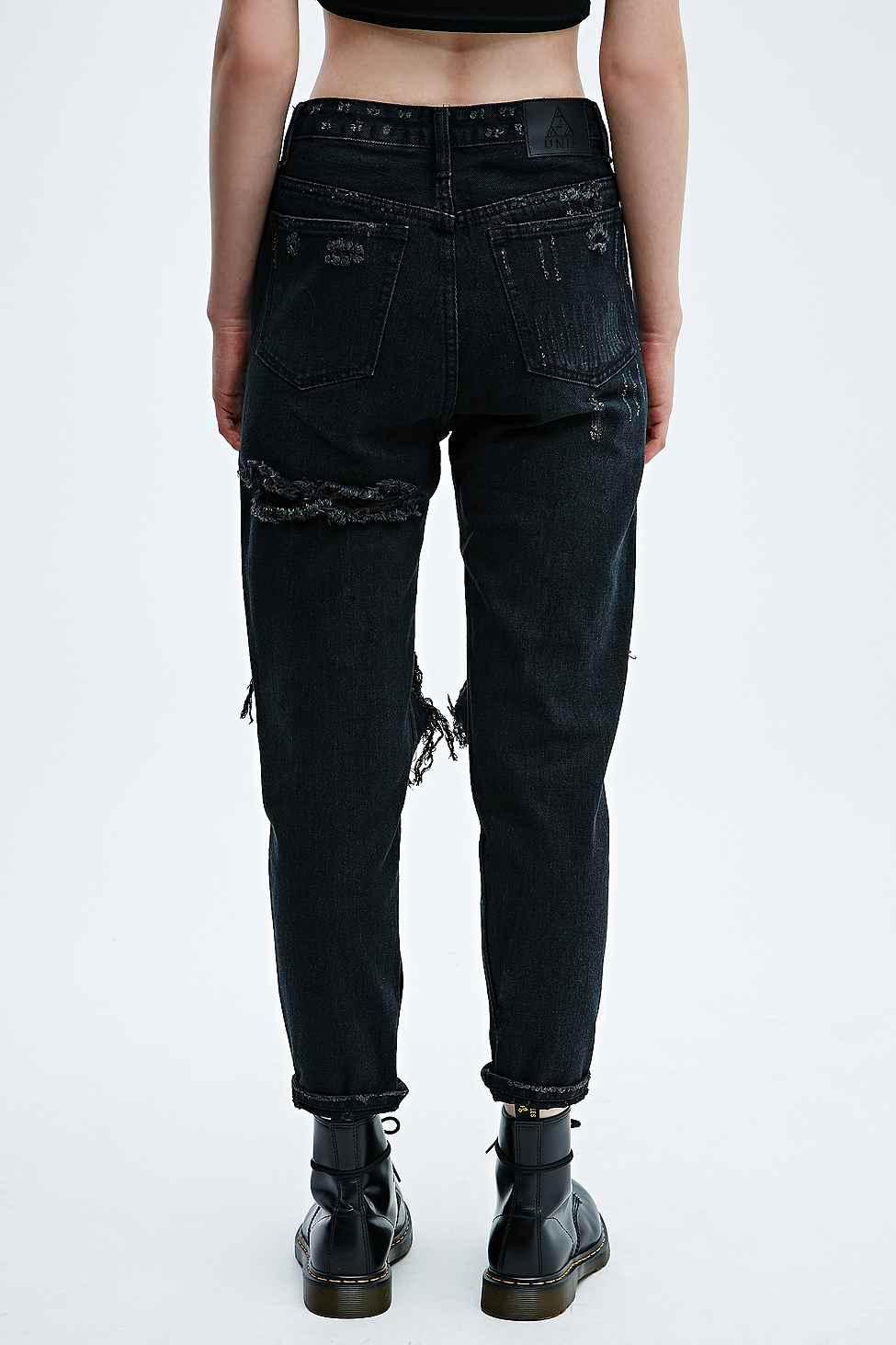 Unif Twerk Jeans In Black in Black - Lyst