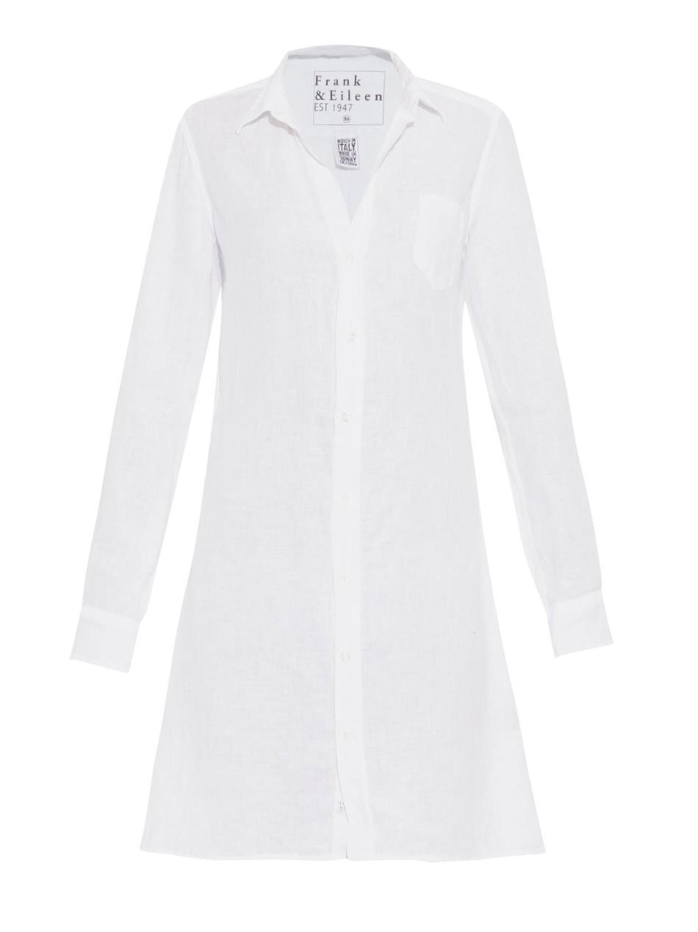 35a9e0008c Lyst - Frank   Eileen Murphy Linen Shirtdress in White