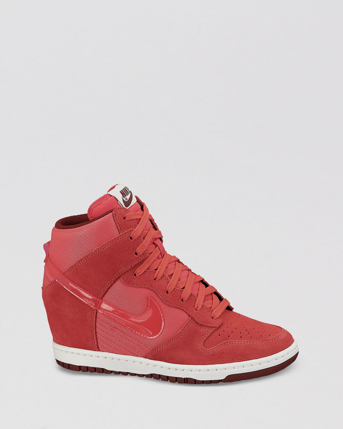 Lyst - Nike Lace Up High Top Wedge Sneakers Womens Dunk Sky Hi ... 3484056cd