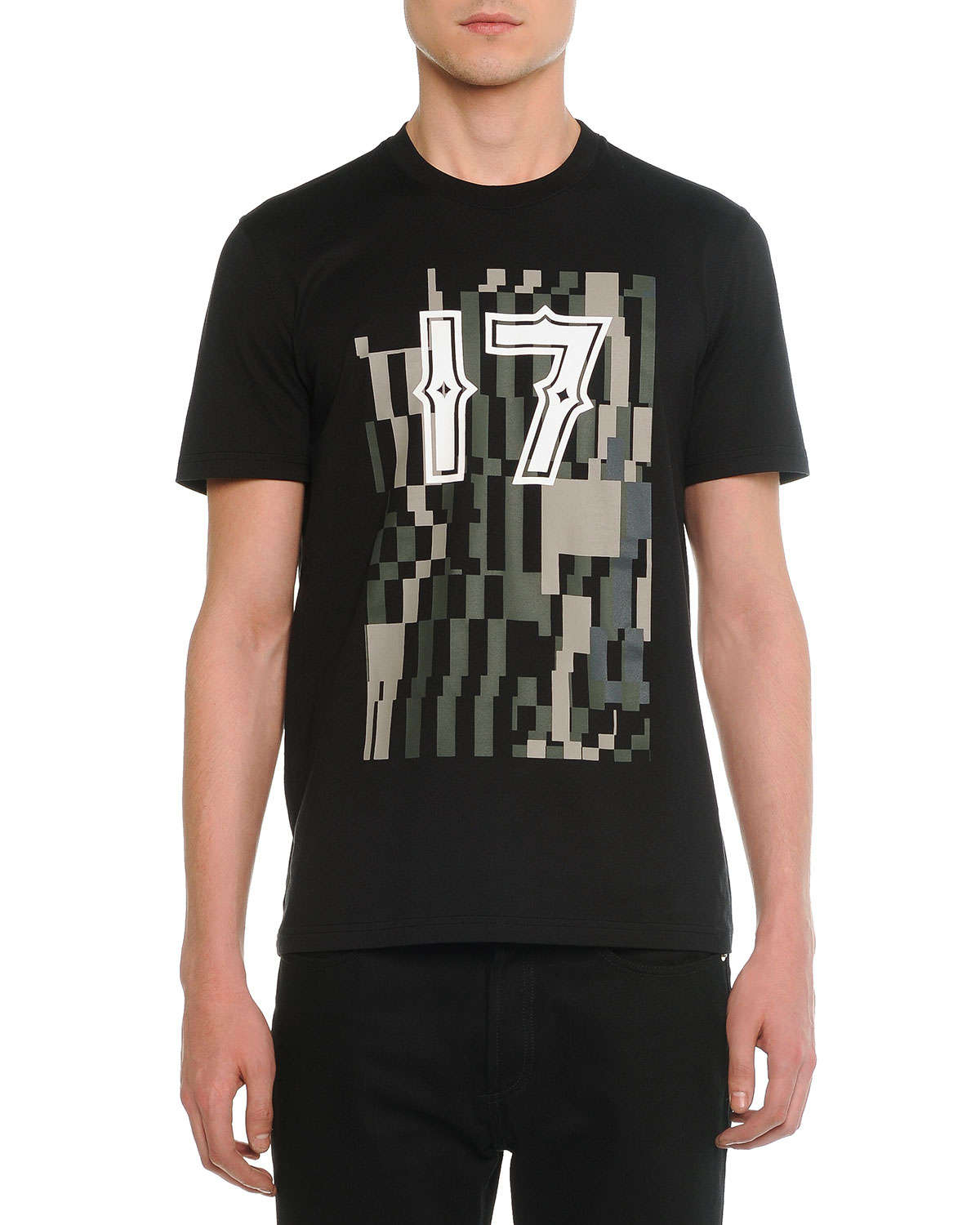 givenchy 17 camo cotton t shirt in green for men lyst. Black Bedroom Furniture Sets. Home Design Ideas