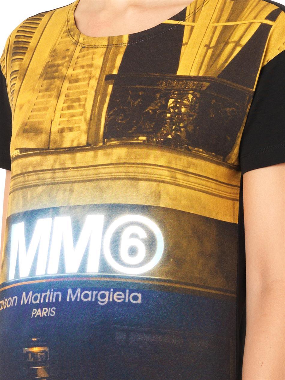 Lyst mm6 by maison martin margiela digital store print t for Mm6 maison martin margiela