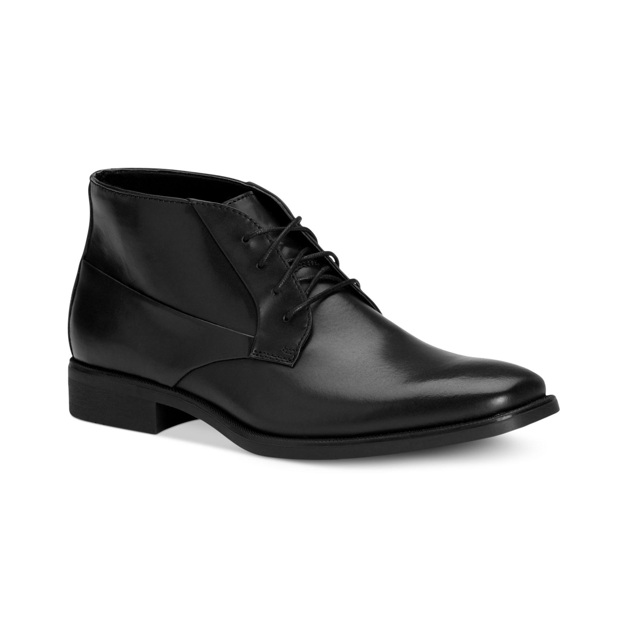 calvin klein elias laceup boots in black for men lyst. Black Bedroom Furniture Sets. Home Design Ideas