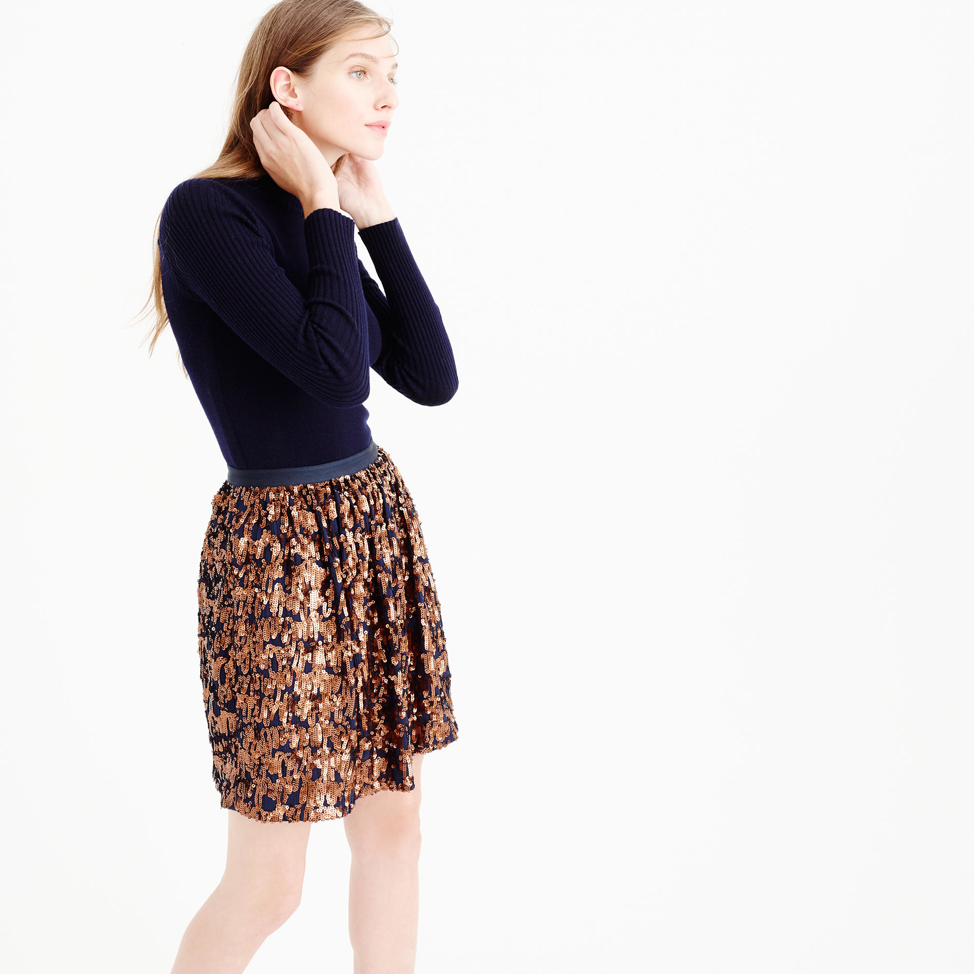 J.crew Abstract Sequin Skirt in Blue | Lyst