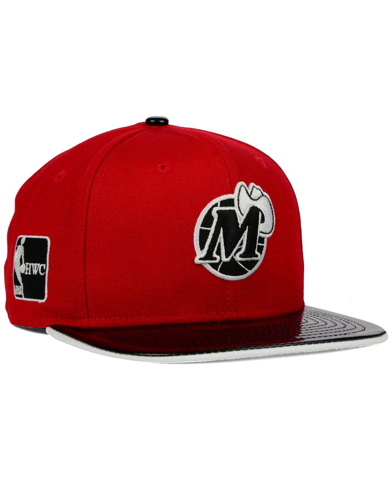 free shipping f8ae1 6b136 ... coupon code for lyst ktz dallas mavericks bred hookup 9fifty snapback  cap in red ea4e7 30cb3 ...