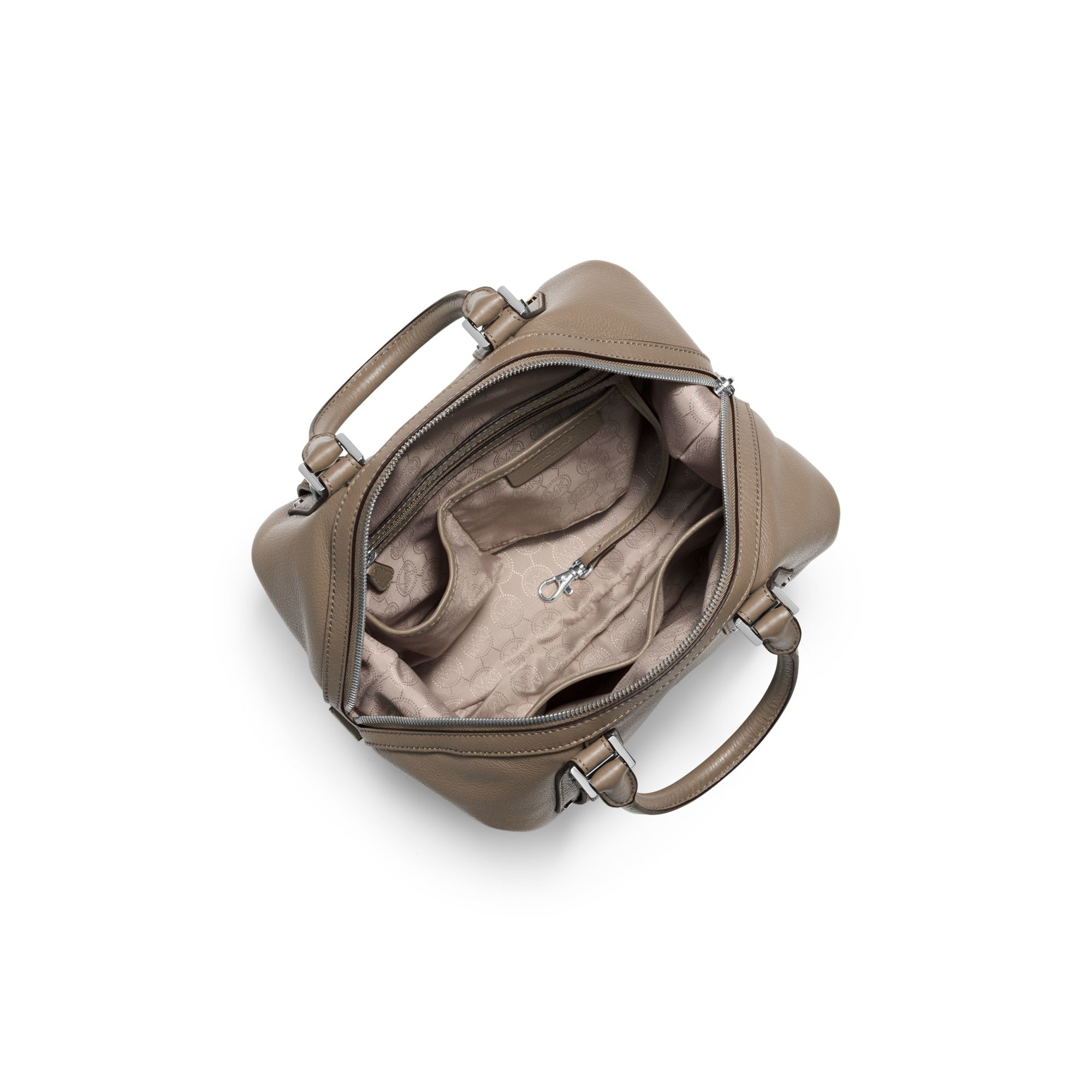 michael kors bedford medium leather satchel in brown lyst. Black Bedroom Furniture Sets. Home Design Ideas