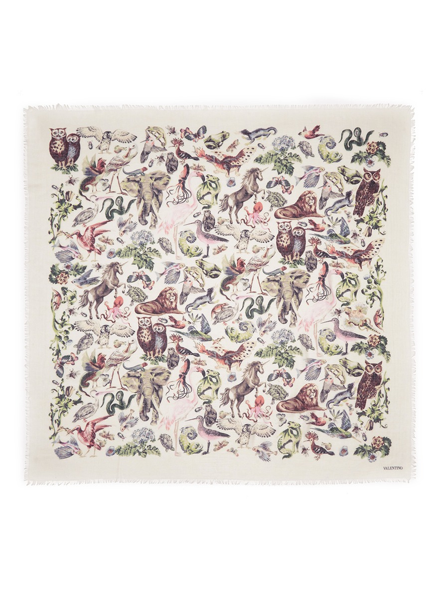 410db833d52a Gallery. Previously sold at  Lane Crawford · Women s Animal Print Scarves  ...