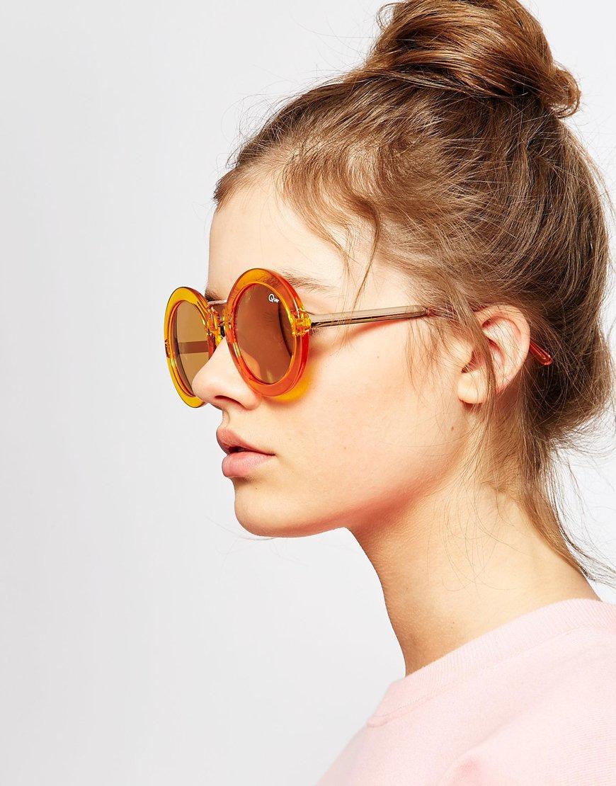 660893b39e Quay Quay Life In Xanadu Sunglasses in Yellow - Lyst