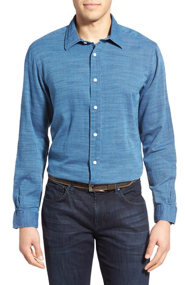 Lyst brooks brothers long sleeve sport shirt in blue for men for Brooks brothers sports shirts