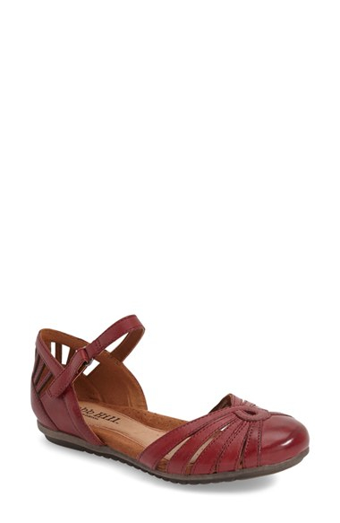 Cobb hill 'irene' Mary Jane Flat in Red