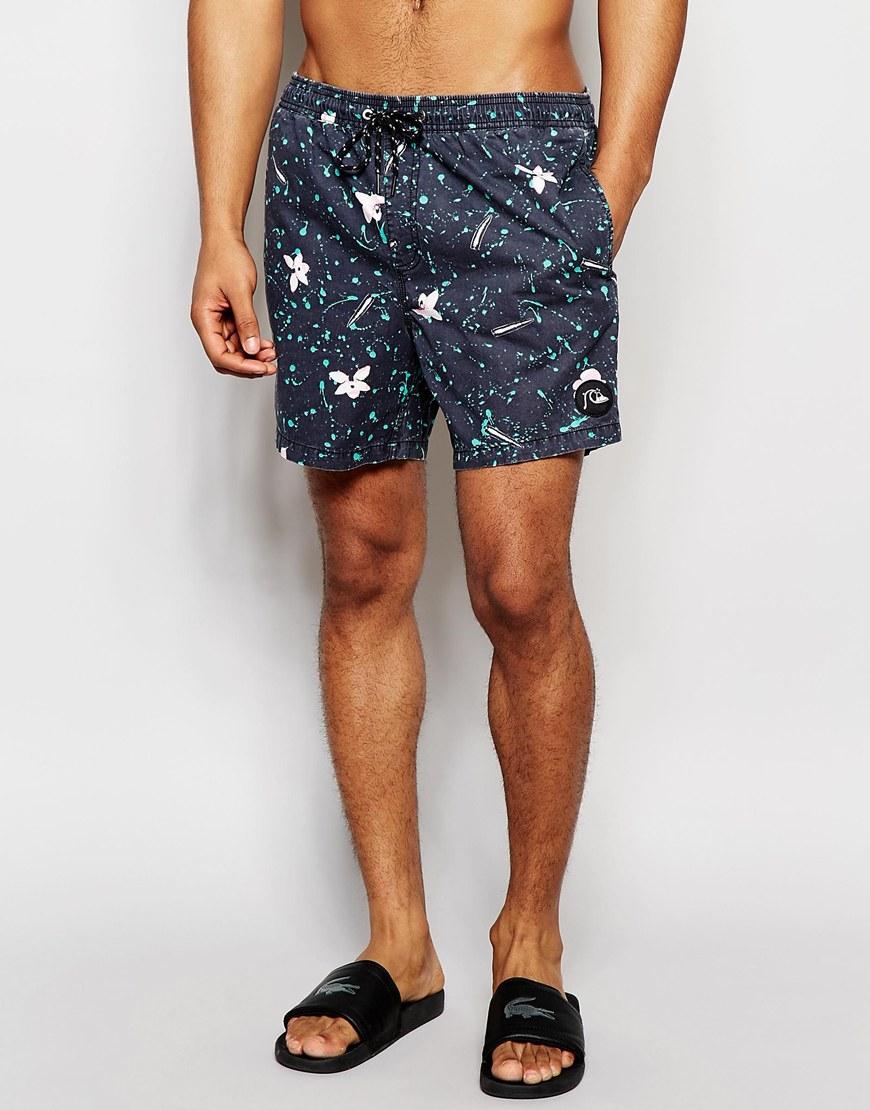 7aaeba1a92 Quiksilver 16 Inch Swim Shorts in Black for Men - Lyst
