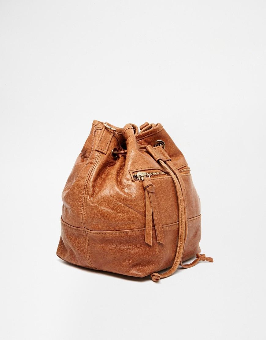 Brown leather bag oasis