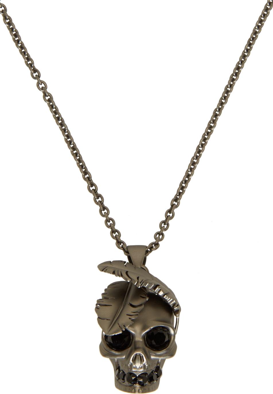 Alexander McQueen Silver-tone Necklace - Gunmetal KHUAfa