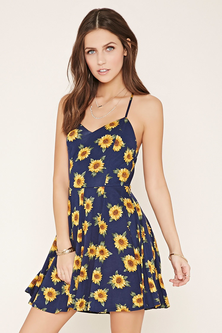 9ee6444f41c Lyst - Forever 21 Sunflower Cami Mini Dress You ve Been Added To The ...