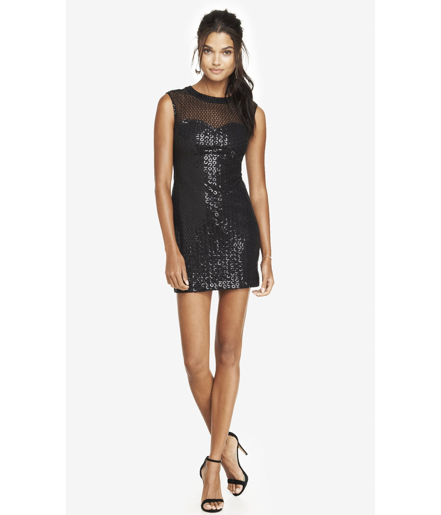 Shimmer and shine in a sequin dress from this collection of designer dresses. The radiant sequin gowns in this selection include several styles of dresses with sequins.